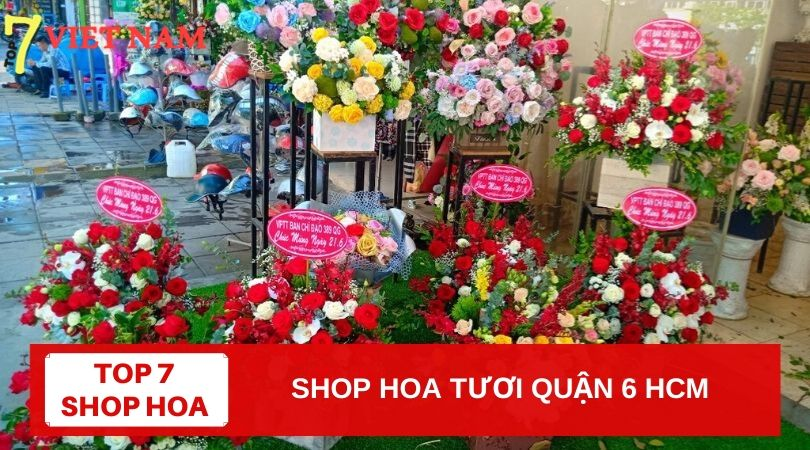 Top 7 Shop Hoa Tươi Quận 6 TPHCM